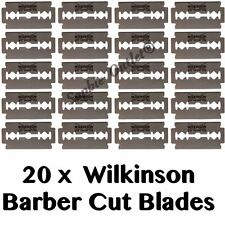 20x Wilkinson Sword Double Edge 20 Razor Blades Barber Cut Blade Shaving Blade