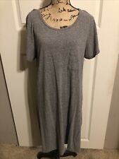 LuLaRoe Carly Dress 2XL Solid Gray Hi-low