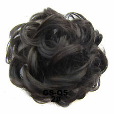 New 100% Natural Curly Messy Bun Hair Piece Scrunchie Real Thick Hair Extensions