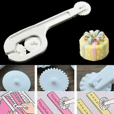 Fondant Cake Sugar Craft Paste Stitching Cutter bracket +3PC gear Embosser Wheel