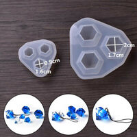 Silicone Diamond DIY Tool Pendant Mold Epoxy Resin Craft Mould Making Jewelry