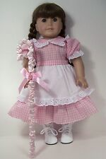 PINK Little Bo Peep Costume Dress Staff Doll Clothes For 18 American Girl (Debs)