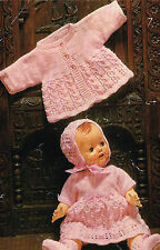 "Dolls clothes knitting pattern for 16"" and 20"" Baby doll. (V Doll 36)"