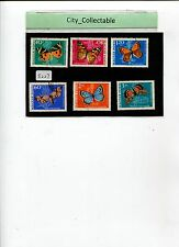 6 PCS HUNGARY BUTTERFLY USED STAMPS # S227