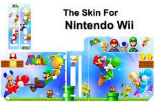 SUPER MARIO SKIN STICKER COVER DECAL for NINTENDO Wii