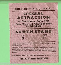 #D82.  RUGBY LEAGUE TICKET - HULL CITY