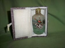 Unused CHINESE REVERSE Inside PAINTED Glass SNUFF BOTTLE Paint Chestnut Horse