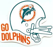 MIAMI DOLPHINS VINTAGE TEAM ISSUED STICKER AUTHENTIC STICKERS 1980'S  MINT NFL