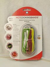 Silicone Hot Cooking Stretch Band Set Multi Colored Bands in Set Reusable New