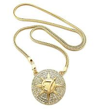 "ICED OUT 5PERCENTER STYLE ""7STAR"" PENDANT 4mm/36"" FRANCO CHAIN NECKLACE XP929"