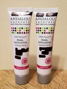 2x ANDALOU Naturals 1000 Roses PEARL EXFOLIATOR Sensitive 0.8oz, Read Desc