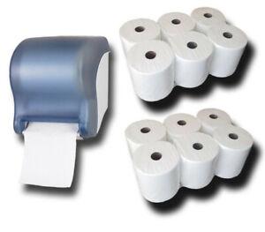 Handtuchrollen Spender mit Sensor + 12 Handtuchrollen Premium 2-lagig