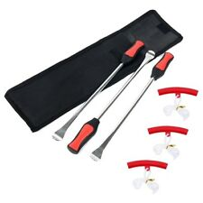 Tire Spoon Lever Iron Tool Set Fit Motorcycle Bike With 3pc Wheel Rim Protector