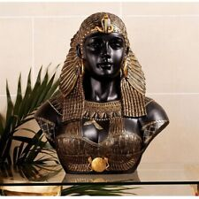 Queen Cleopatra Neoclassical Design Toscano Hand Painted Sculptural Bust