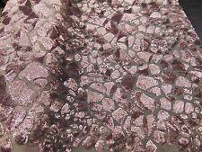Safari Leopard dusty rose sequin Apparel dress fabric yard
