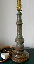More details for cornish serpentine stone lamp - 34cm high