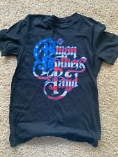 Allman Brothers Band American Flag Logo Shirt Rock N Roll Legends