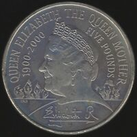 2000 Elizabeth II Five Pounds Coin | British Coins | Pennies2Pounds