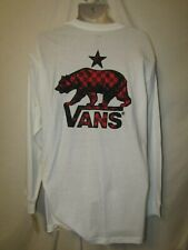 mens Vans LS  t-shirt XL nwt  western bear white