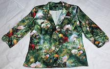 Women's Floral Cotton Blend Basic Jackets
