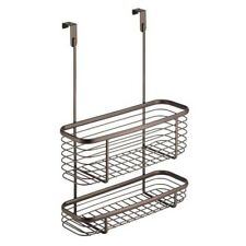 Cabinet Overdoor Steel Wire Bronze Basket Organizer Kitchen Laundry Storage Bin