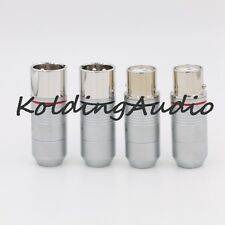 4p High end 3 pin Female XLR Connector Jack adapter Teflon insulator Platinum