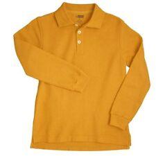 Polo Shirt School Uniforms Gold Long Sleeve 12 Husky Unisex French Toast New