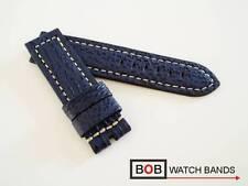 - BOB ECHT HAIFISCH XL LEDERUHRBAND für BREITDORNSCHLIESSE MARINE BLAU 24-24 mm