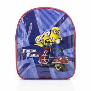 Official Despicable Me Minion Mania Moped Union Jack Backpack Rucksack Bag