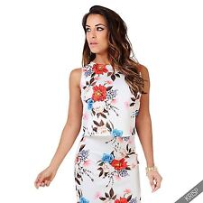 Women's Floral Crew Neck Vest Top, Strappy, Cami Tops & Shirts