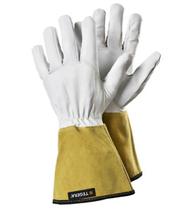 Leather gauntlet gardening gloves Unisex S/M/L