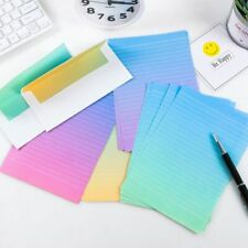 Stationery Letter Envelope Set Gradient Color Writing Paper Students Supplies