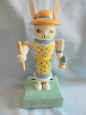 Rare Vintage Music Box ,Bunny Movement plays Easter Bonnet. Collectable!