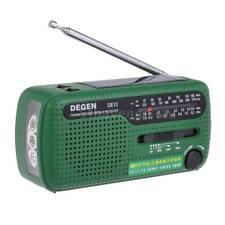 DEGEN DE13 FM Radio FM MW SW World Bank Receiver Flashlight Cranker Dynamic S7Y8