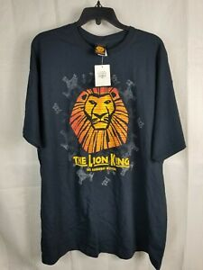Disney Tee Shirt The Lion King Broadway Musical Black Size XXL NEW WITH Tags