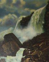 c1930-40s Bridal Veil Falls Cave of Winds Niagara Falls NY 2 Lot Postcards Linen