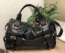 Kooba Black Leather Large Handbag Shoulder Bag Satchel GPC