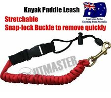 New Kayak Paddle Leash Stretchable Easy Removable Bungee