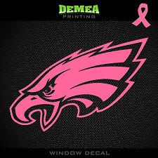 "Eagles NFL -  Breast Cancer Awareness Pink Vinyl Sticker Decal 5"""