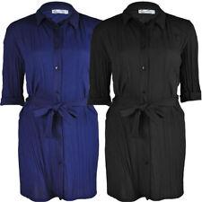 Polyester Long Sleeve Ruffled Tops for Women