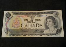 1973$ 1 DOLLAR CANADA BILL NOTE (RARE) AU Replacement note*
