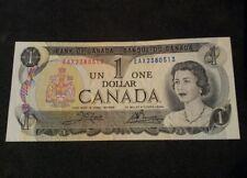 1973$ 1 DOLLAR CANADA BILL NOTE (RARE) AU Replacement note*