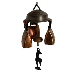 Hanging Decorative Copper Cow Bell Chimes