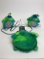Green Blue Furgels - Soft Speakers - Plug & Play Stereo Amplifier & CD/DVD Case