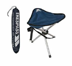 Trespass Packable Folding Tripod Stool & Carry Bag Lightweight Camping Packaway