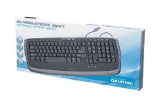 Grundig elegante tastiera Multimedia inglese QWERTY NERO USB KEYBOARD COMPUTER