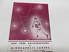 1948 New York Knicks  vs  Minneapolis Lakers  Program Scored  George Mikan 34pts