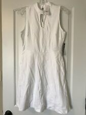 NWT New York And Company White Dress Sz S Sleeveless A-Line Org $34.95 Free Ship