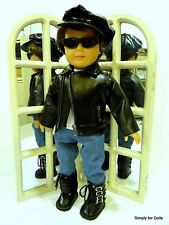 "6pc 18"" AMERICAN GIRL ""BOY"" Doll Clothes JACKET TOP PANTS BOOTS CAP SUNGLASSES"