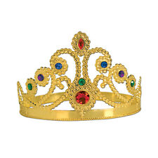 Gold Queen Tiara Costume Royal Crown Medieval Birthday Renaissance Party Event
